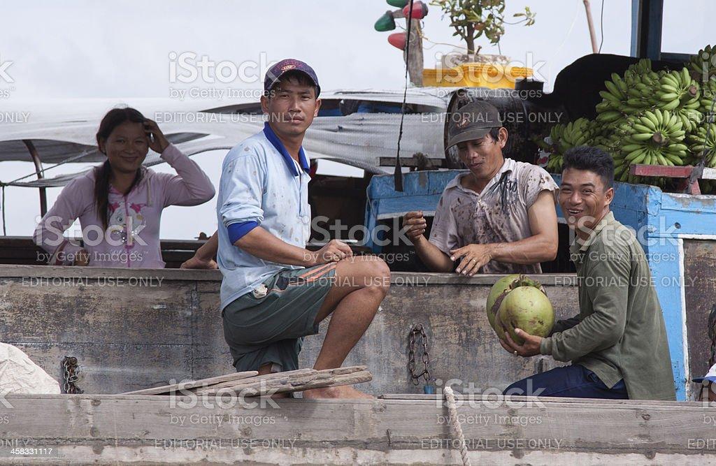 Floating market, Mekong Delta royalty-free stock photo