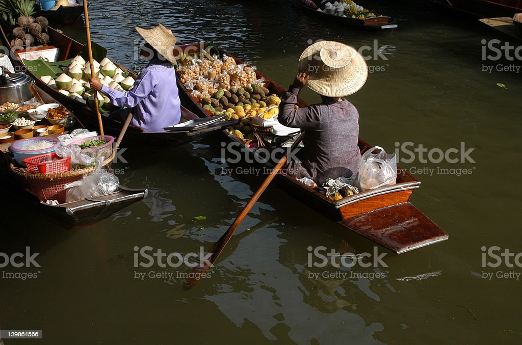 Floating Market royalty-free stock photo
