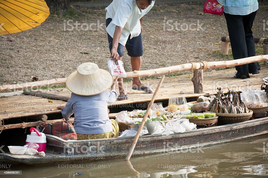 Floating Market Stall In Bangkok royalty-free stock photo