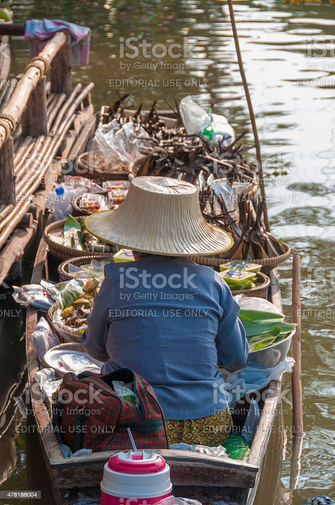 Floating Market Stall stock photo