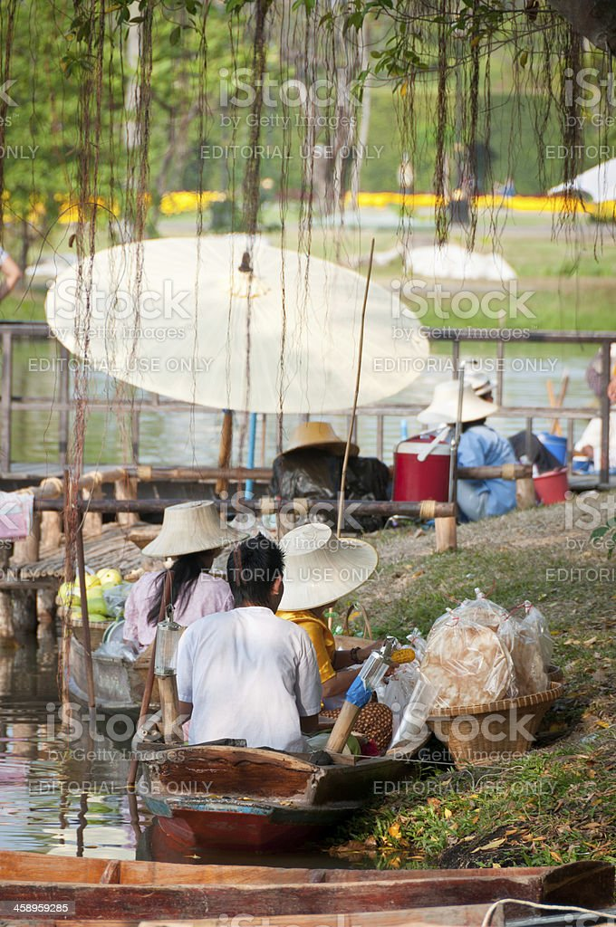 Floating Market Stalls In Bangkok royalty-free stock photo