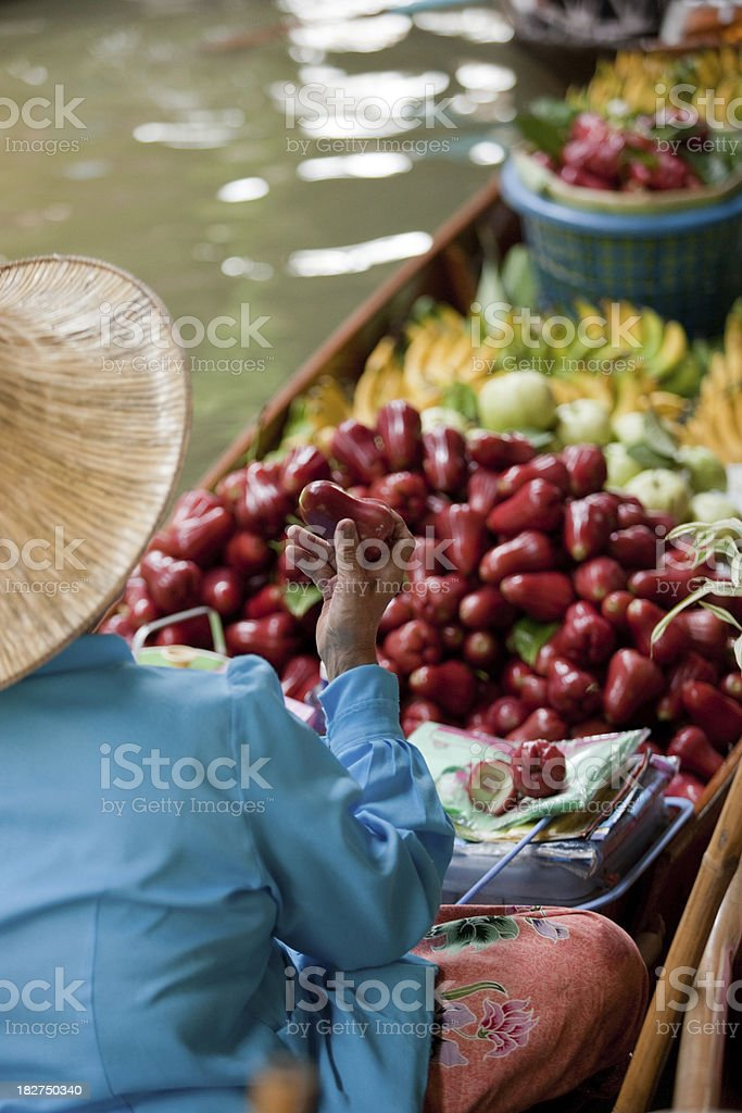 Floating Market - Thailand royalty-free stock photo