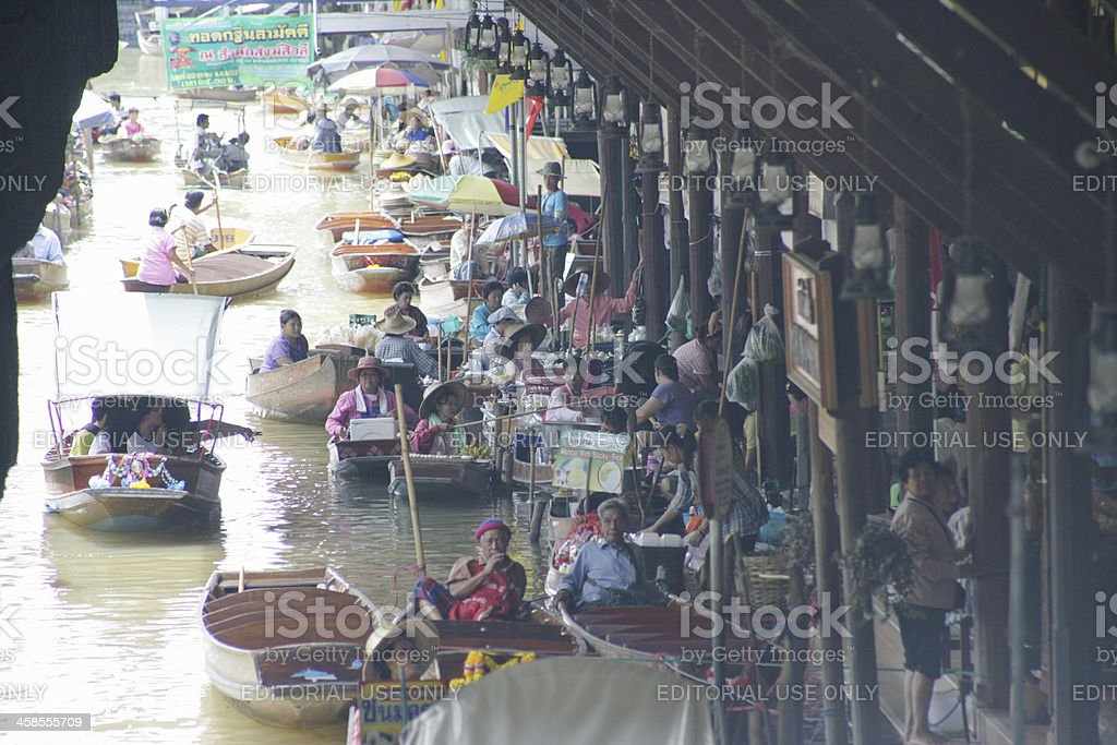 Floating markets in Damnoen Saduak royalty-free stock photo