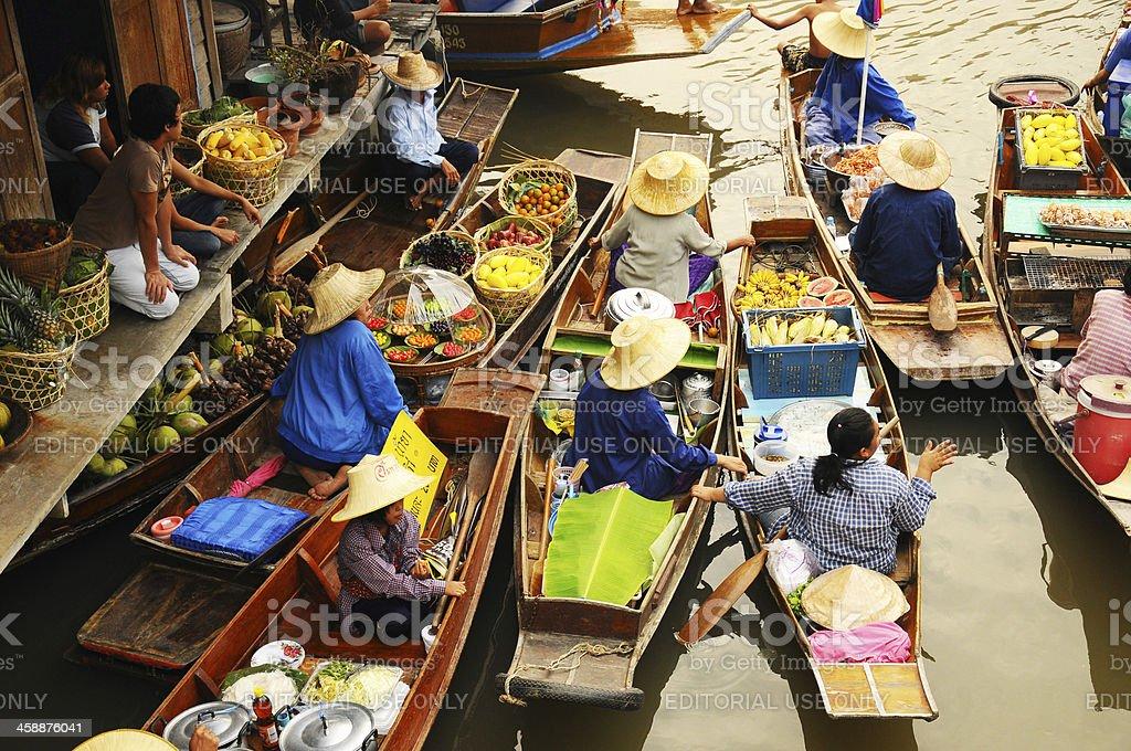 Floating market,Thailand royalty-free stock photo