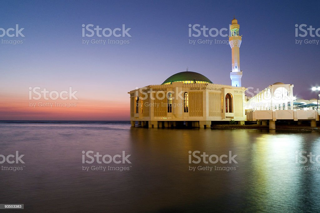 Floating Mosque By Red Sea royalty-free stock photo