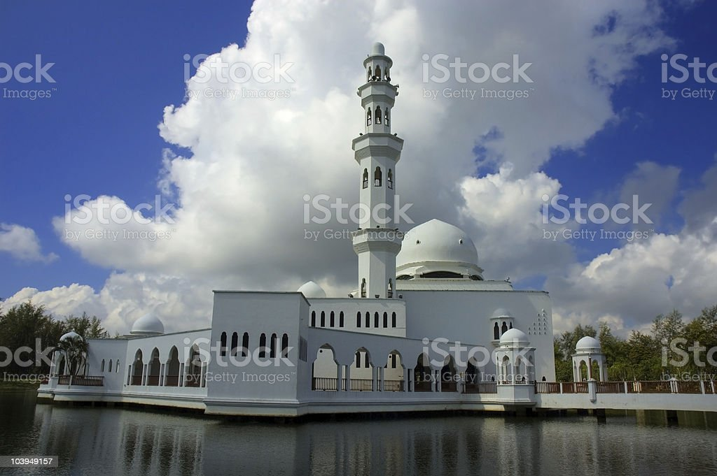 floating mosque royalty-free stock photo