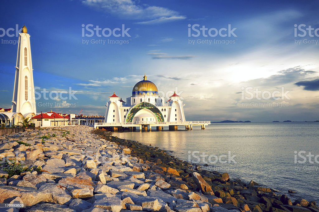 Floating Mosque stock photo