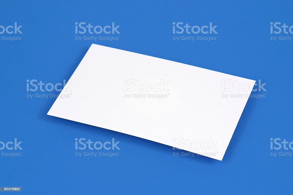Floating Note Card royalty-free stock photo