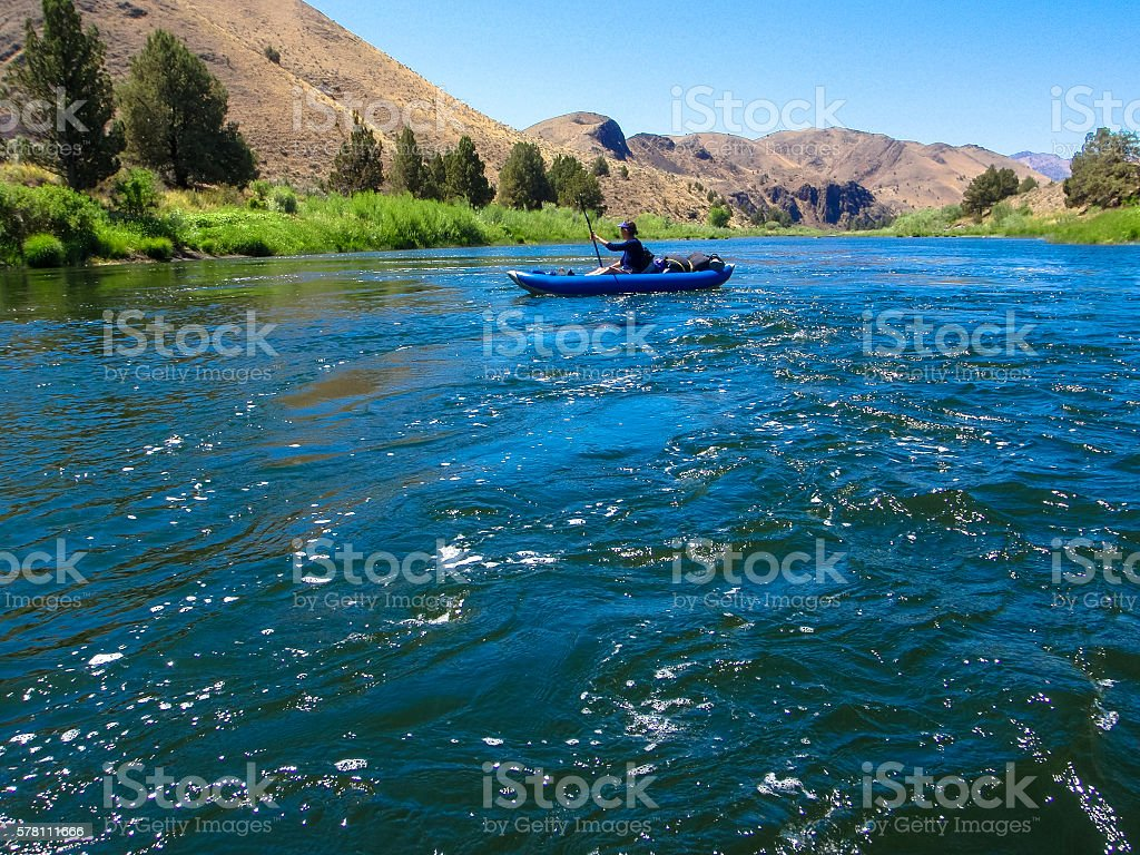 Floating on John Day stock photo