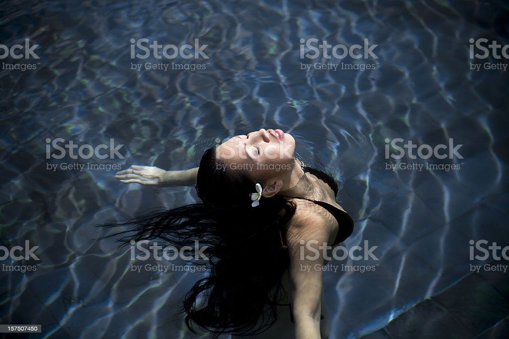 Floating on Water in Ubud Bali royalty-free stock photo