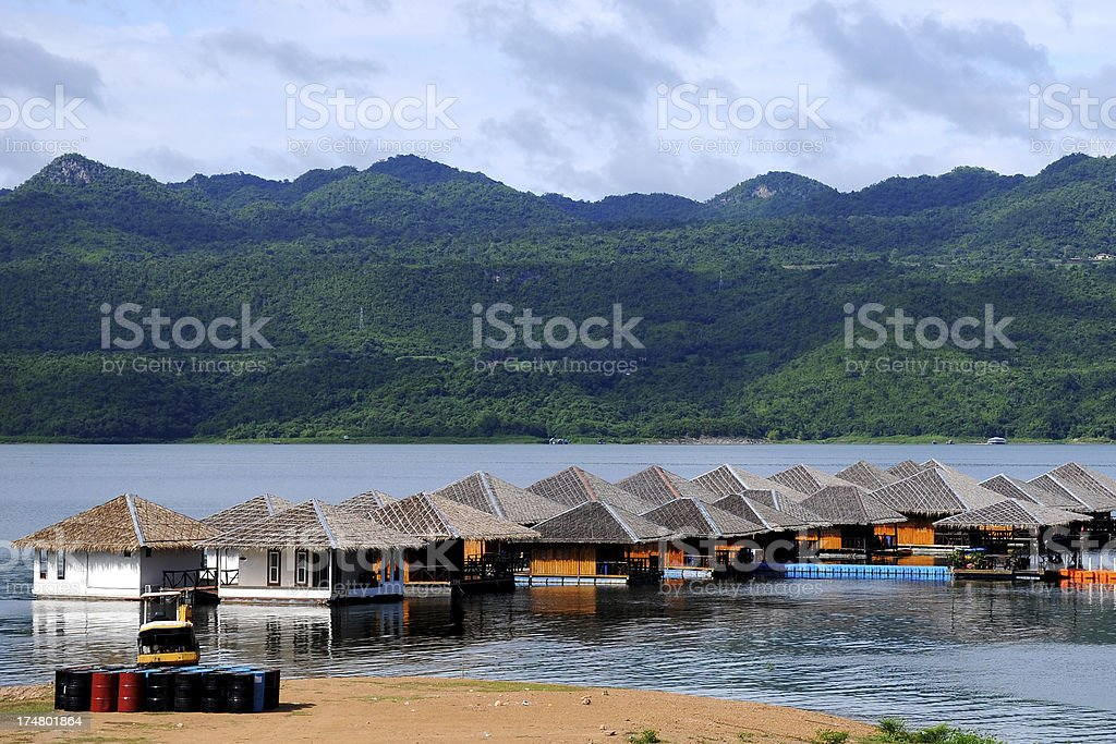 Floating on water resort, Thailand royalty-free stock photo