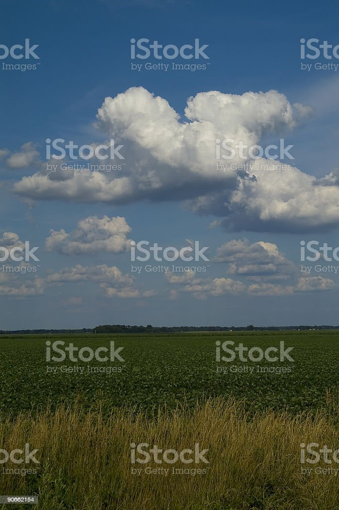 floating over the prairie2 royalty-free stock photo