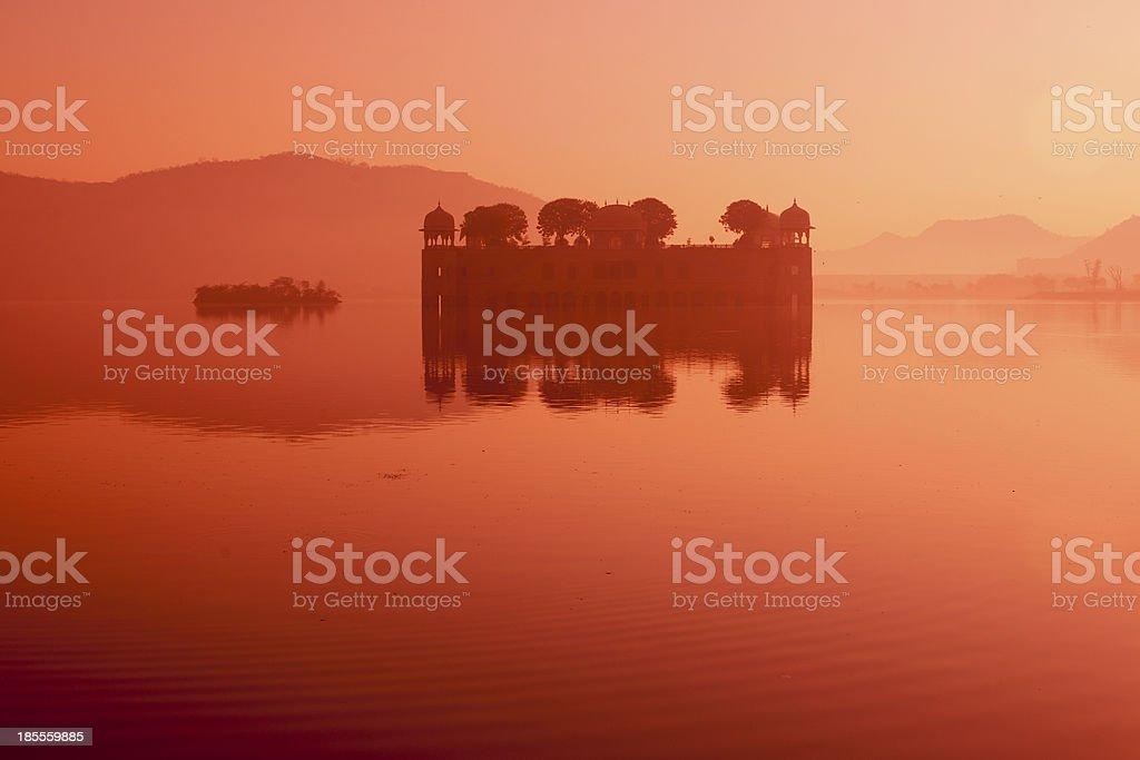 floating palace Jal Mahal at jaipur india royalty-free stock photo