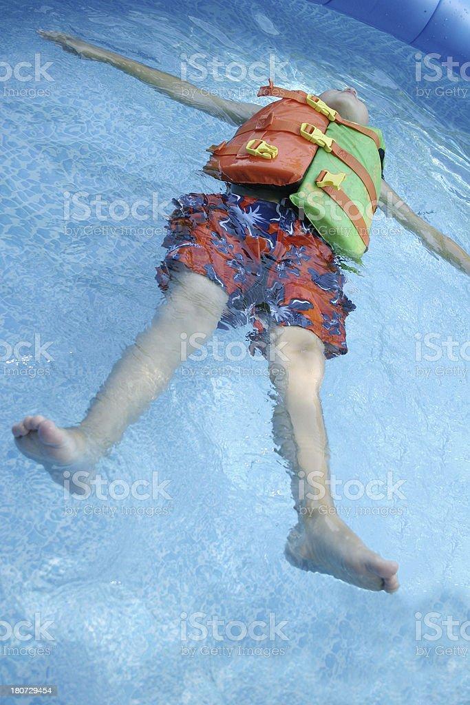 Floating royalty-free stock photo