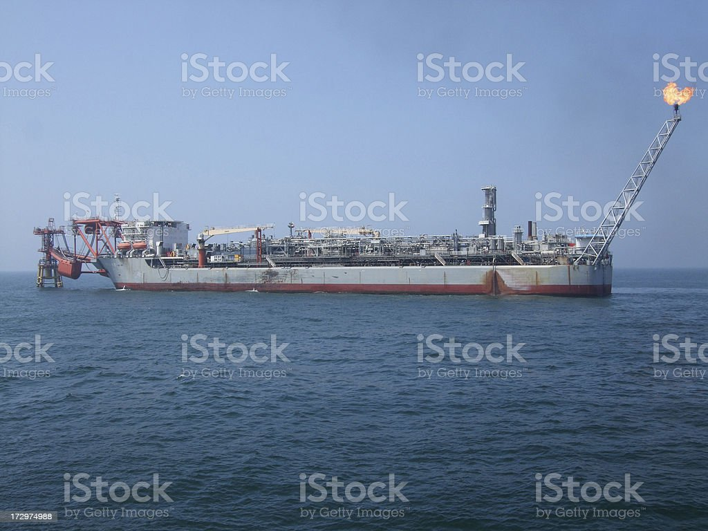 Floating production Vessel royalty-free stock photo