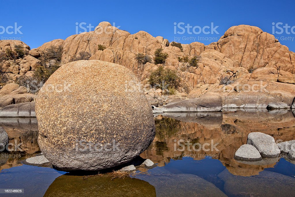Floating Rock stock photo