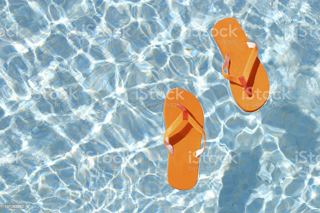 Floating sandals royalty-free stock photo