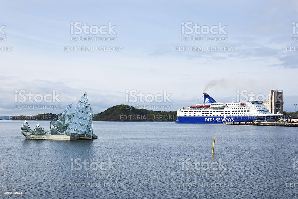 Floating sculpture in Oslo royalty-free stock photo