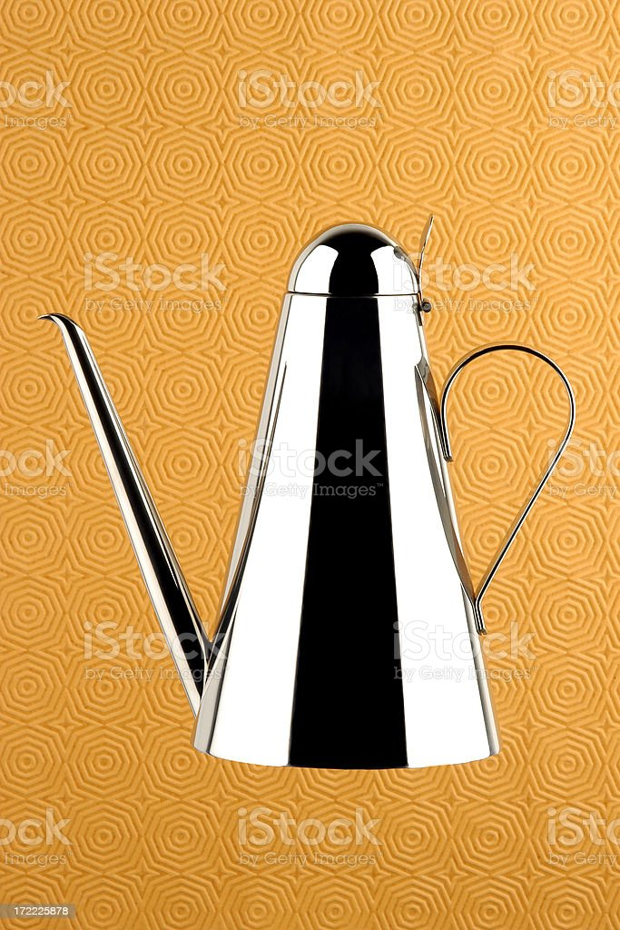 Floating Silver Oil Can royalty-free stock photo