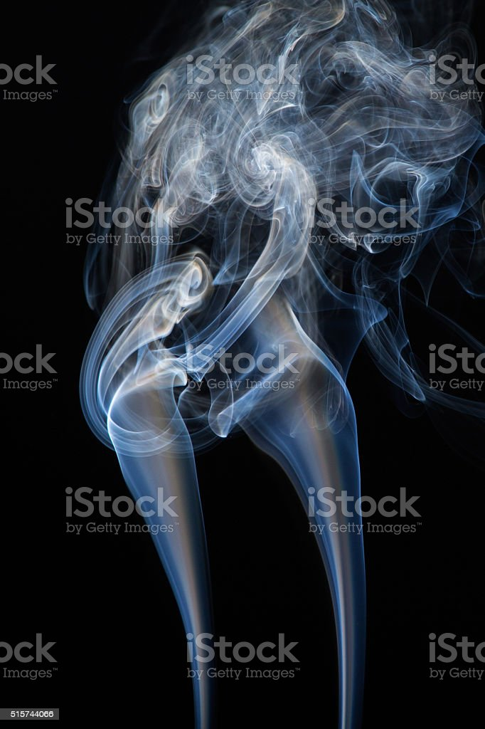 Floating smoke stock photo