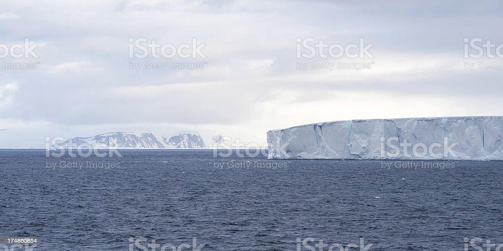 Floating Tabular Iceberg in Antarctica stock photo