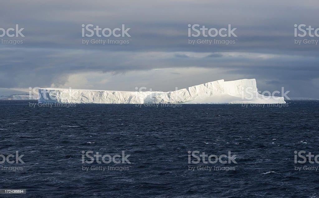 Floating Tabular Icebergs in Antarctica stock photo
