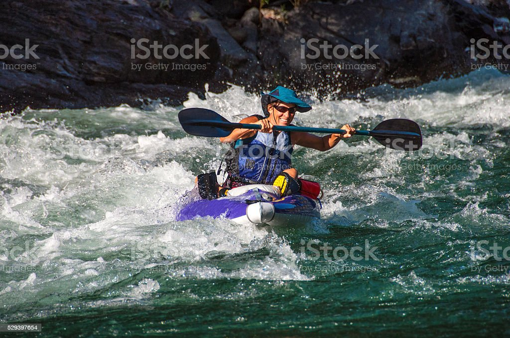 Floating the rapids stock photo