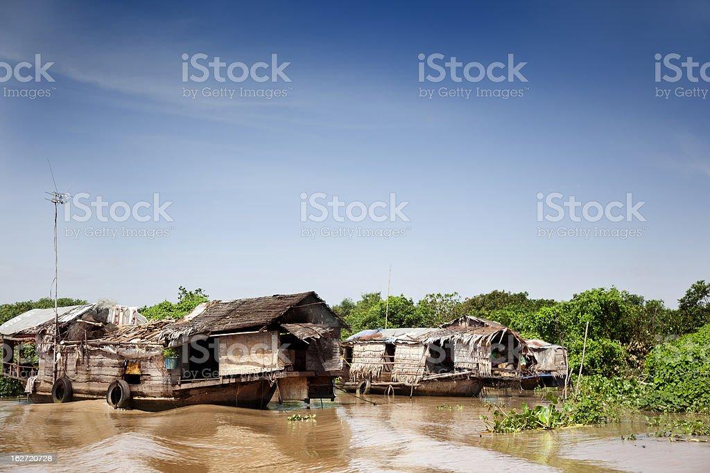Floating Village royalty-free stock photo