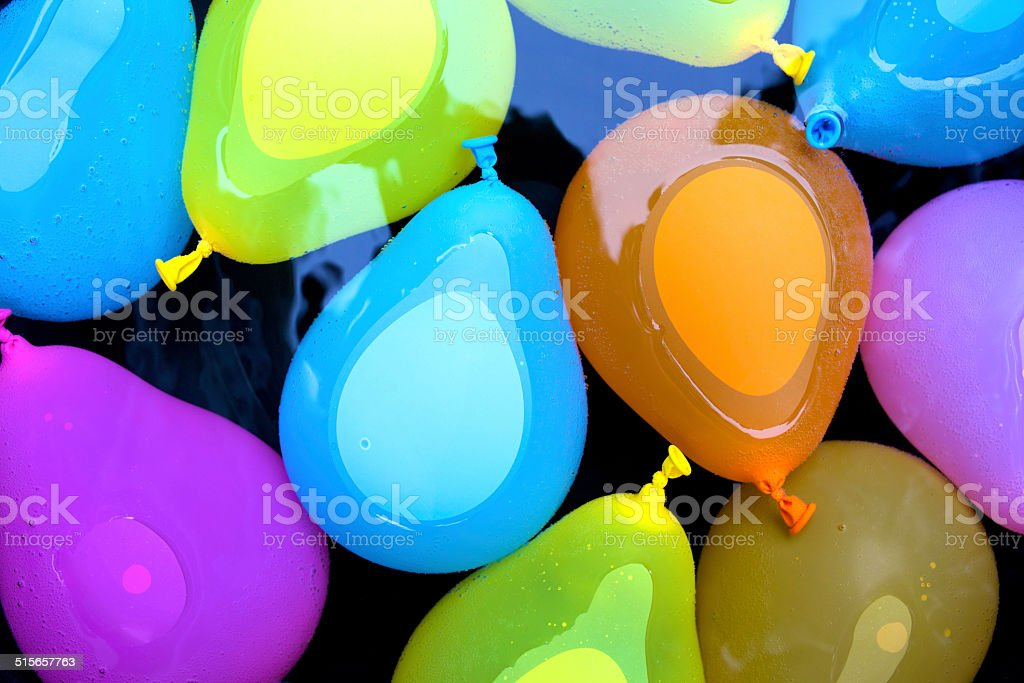 Floating Water Bombs stock photo