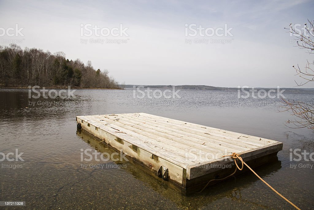 Floating wharf stock photo