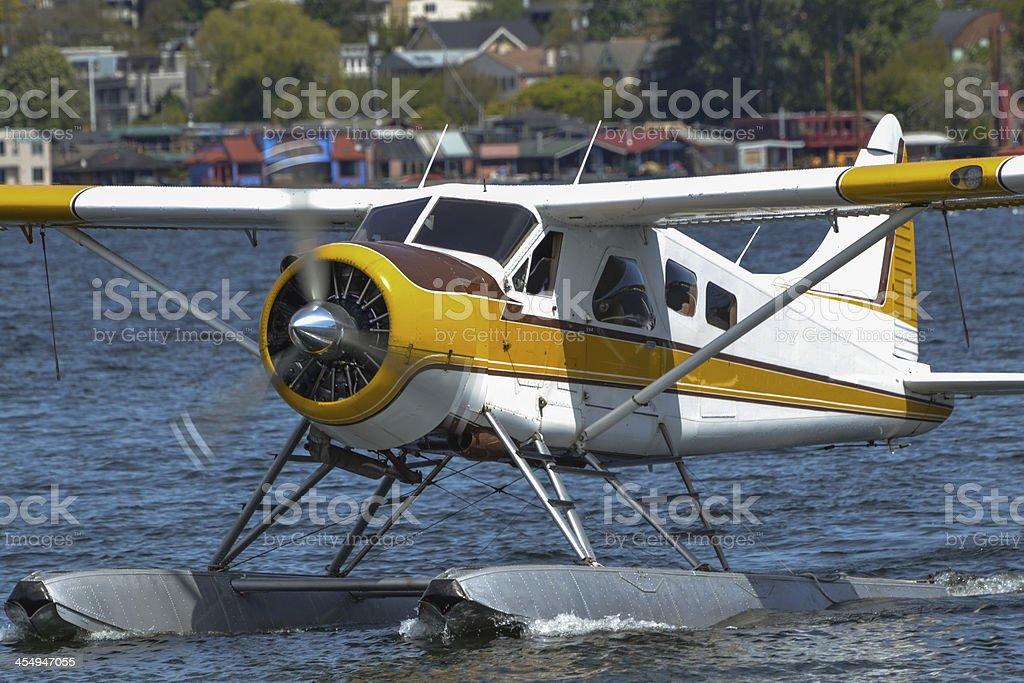 Floatplane Arrival stock photo