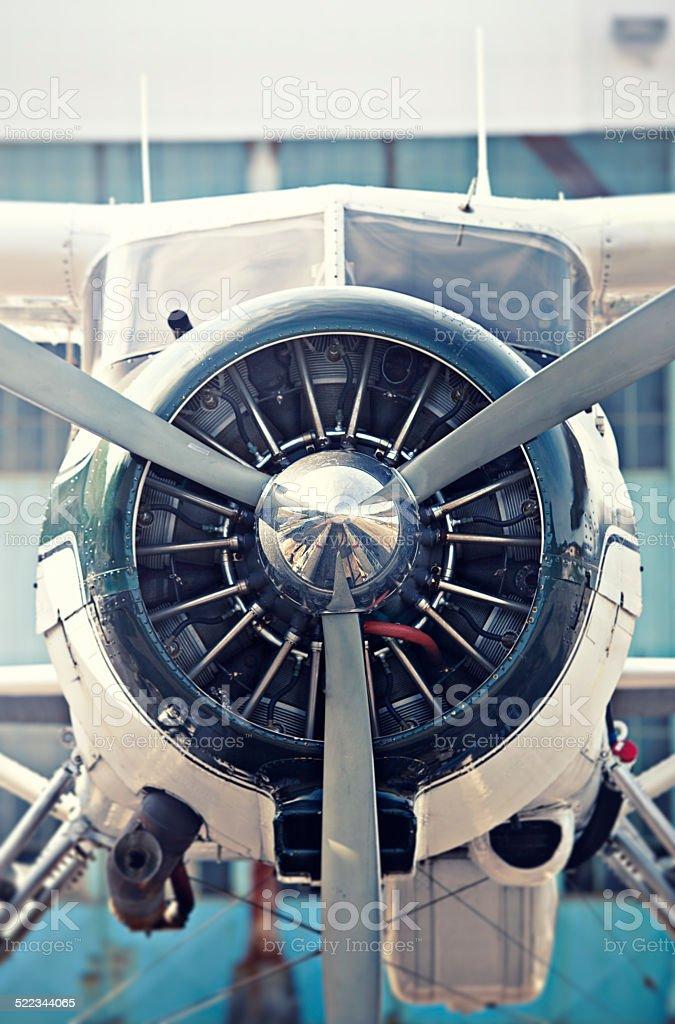 Floatplane Close-up stock photo