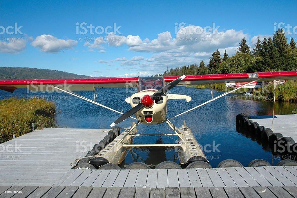 Floatplane royalty-free stock photo