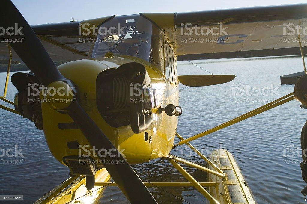 Floatplane stock photo