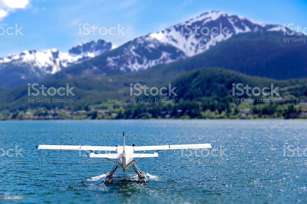 Floatplane Ready to Take Off stock photo