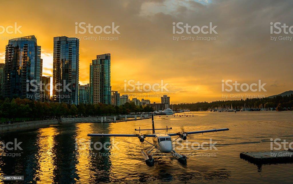 Floatplane Vancouver stock photo