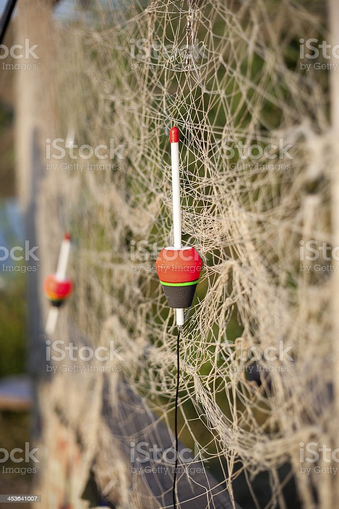 floats and fishing nets royalty-free stock photo