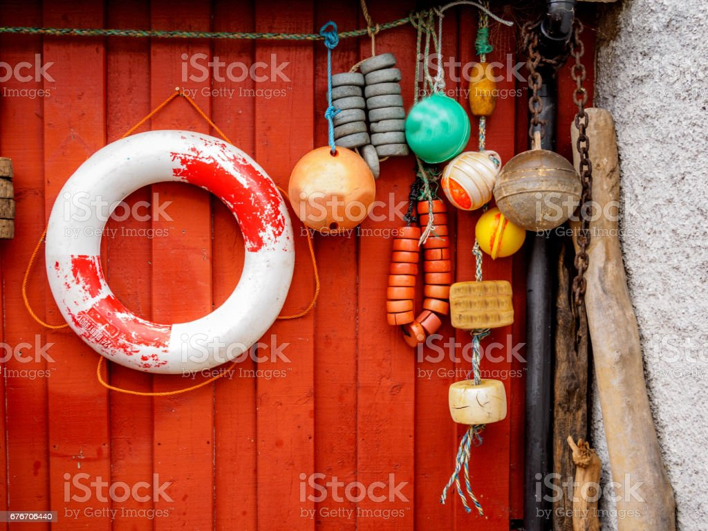 Floats for Boats stock photo