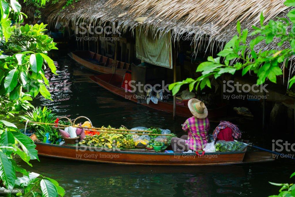 Floatting market stock photo