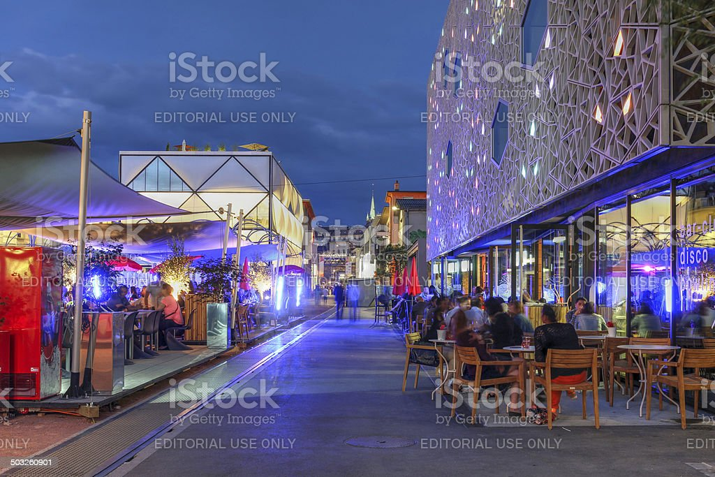 Flon, Lausanne, Switzerland stock photo