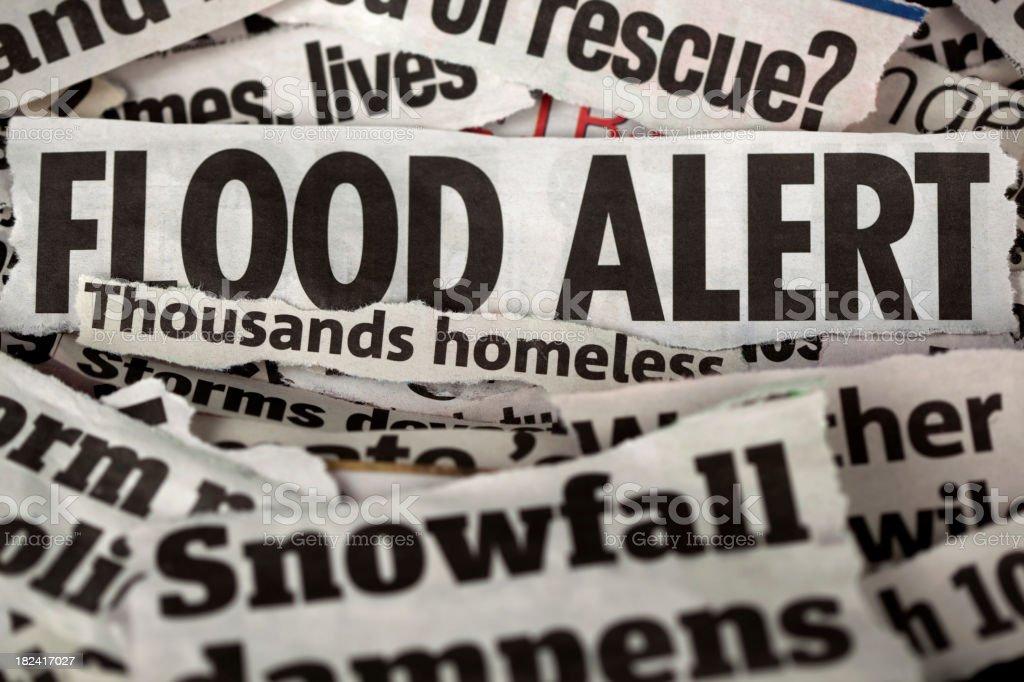 Flood alert royalty-free stock photo