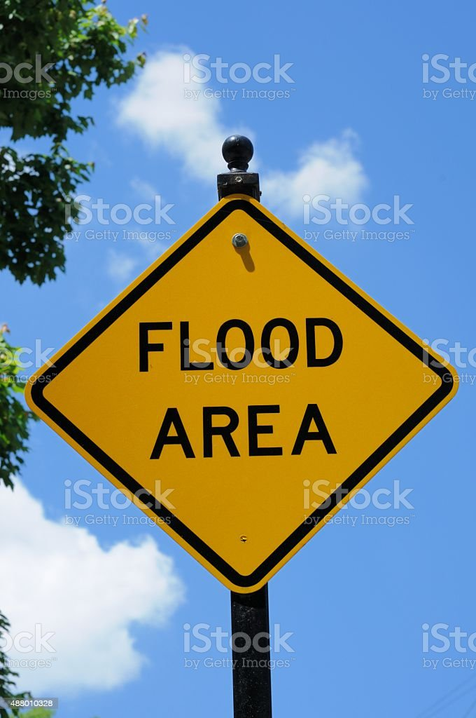 Flood area sign stock photo