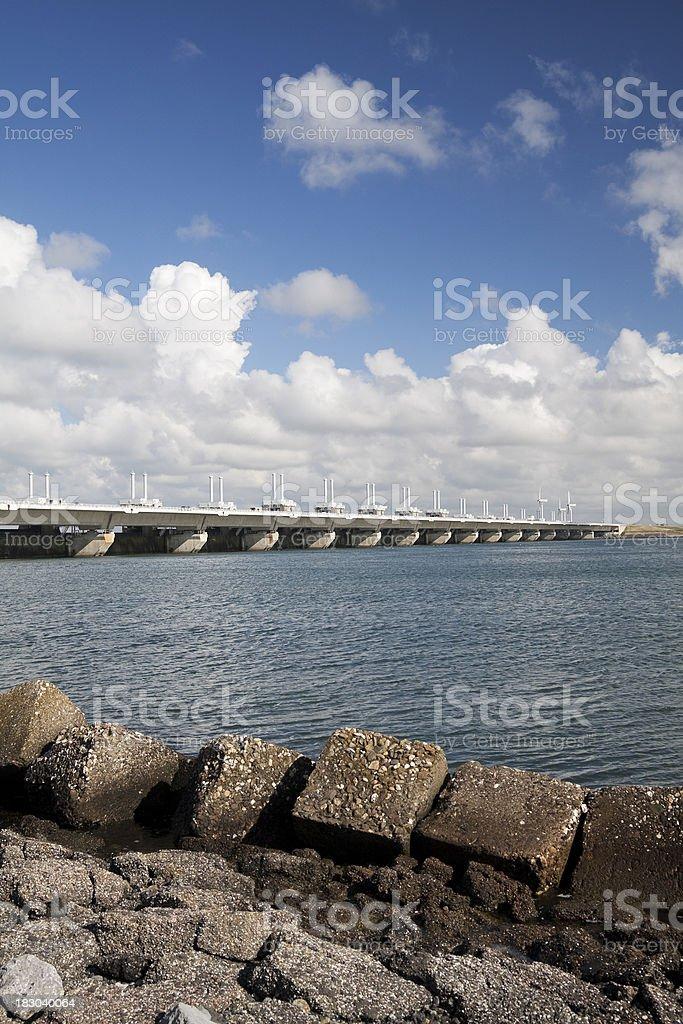 Flood Barrier stock photo