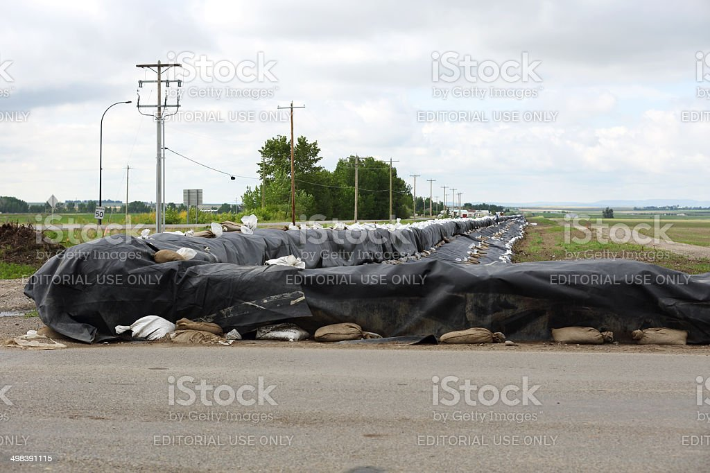 Flood Barrier royalty-free stock photo