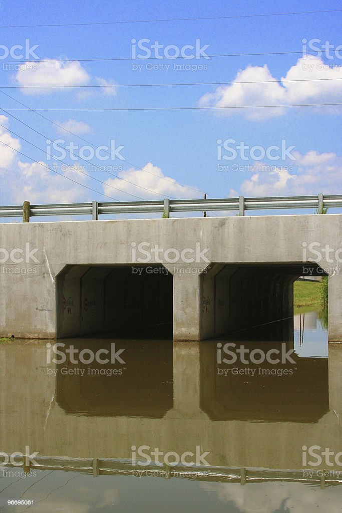 Flood control drainage ditch royalty-free stock photo