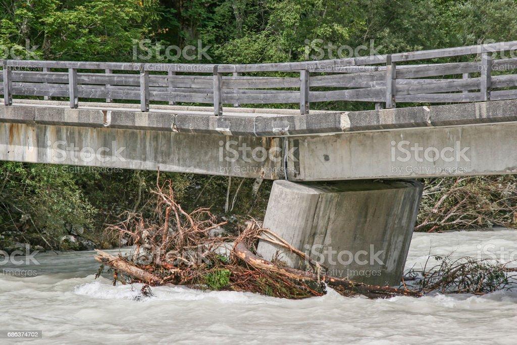 Flood damage stock photo