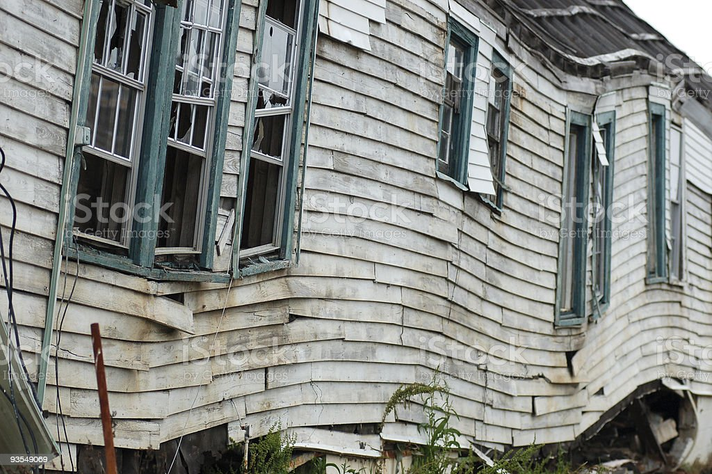 Flood Damaged Home, New Orleans stock photo