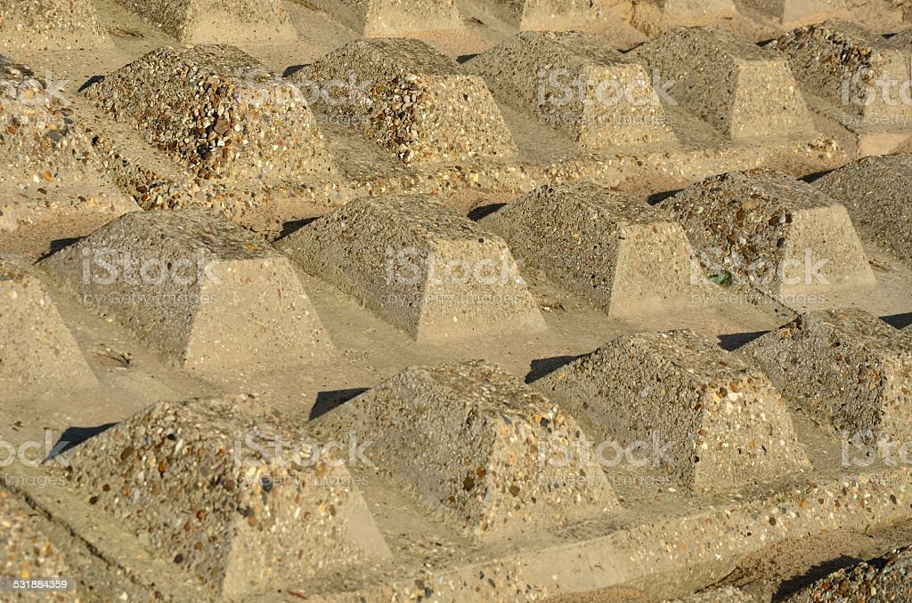 flood defence in close up stock photo