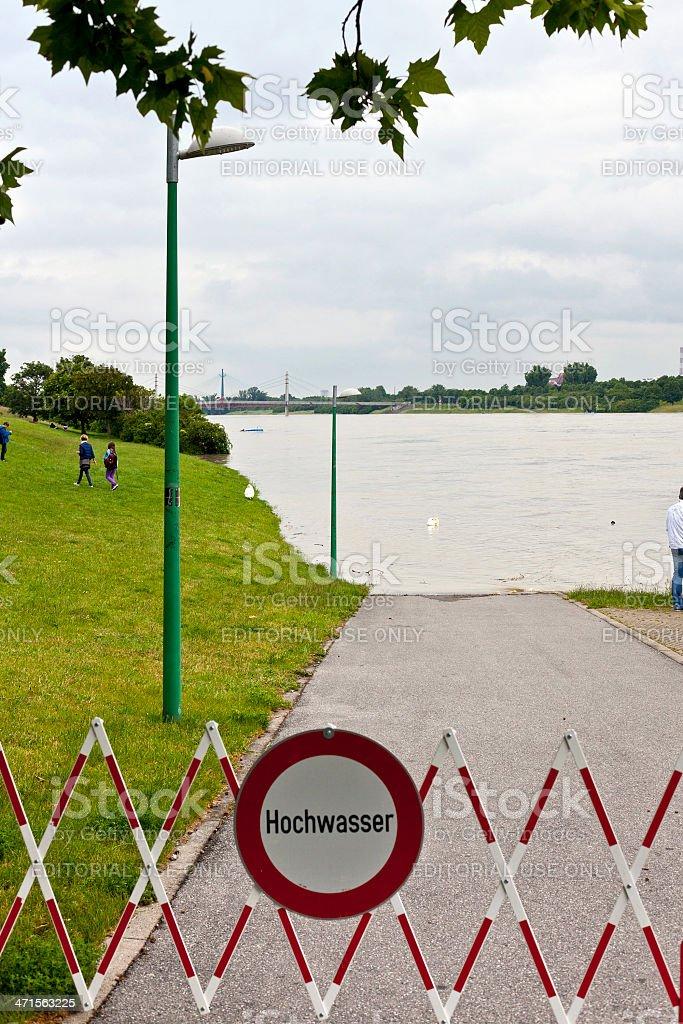 Flood disaster Danube Vienna 2013 royalty-free stock photo