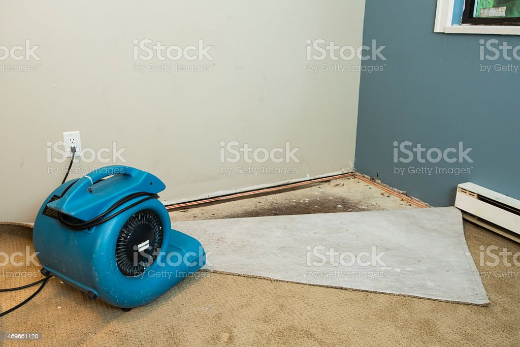 Flood home restoration stock photo